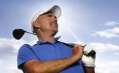 Smiling Golfer — Stock Photo