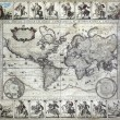 Vintage map of the world — Stock Photo