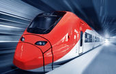 Fast train in motion — Stock Photo