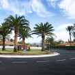 Stock Photo: Maspalomas, circular asphalt road.