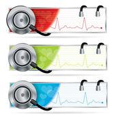 Medical vector banner set — Stock Vector