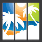 Tropical vertical banner set — Stock Vector