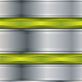 Steel metal vector background with some green elements — Stockvektor