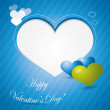 Blue valentine background or brochure composition — Wektor stockowy #8584855