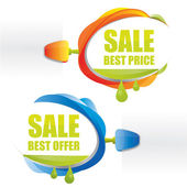 Best price promotional attachable sign — Stock vektor