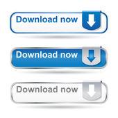 Conjunto de botão download web2 — Vetorial Stock
