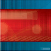 Red and blue abstract vector background — Stock Vector
