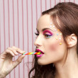 Candy cane girl — Stock Photo #10381215