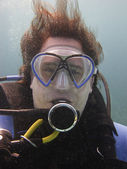 Portrair of a diver — Stock Photo