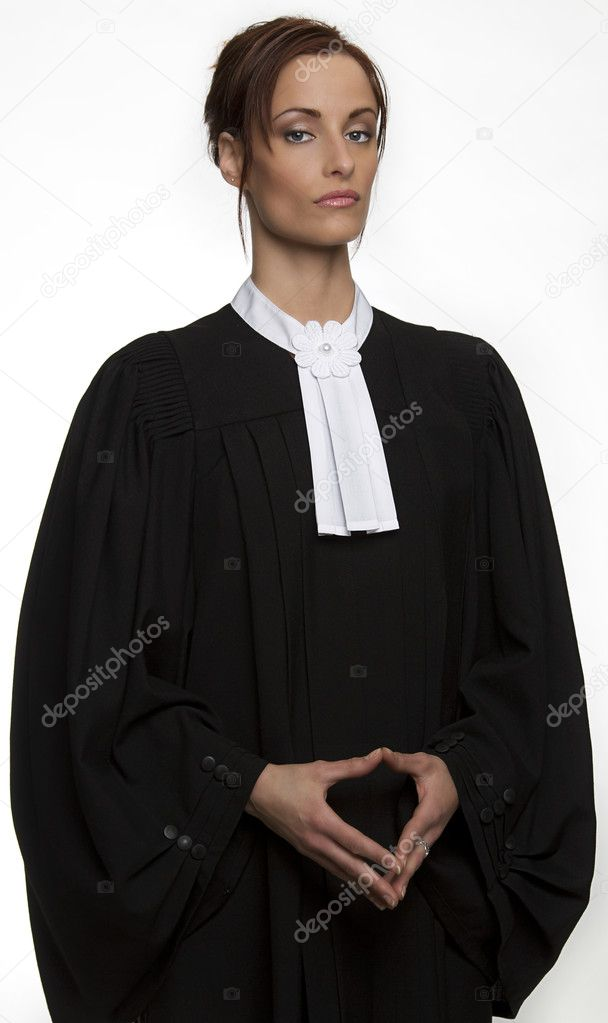 Canadian attorney in full attire — Stock Photo #9838214