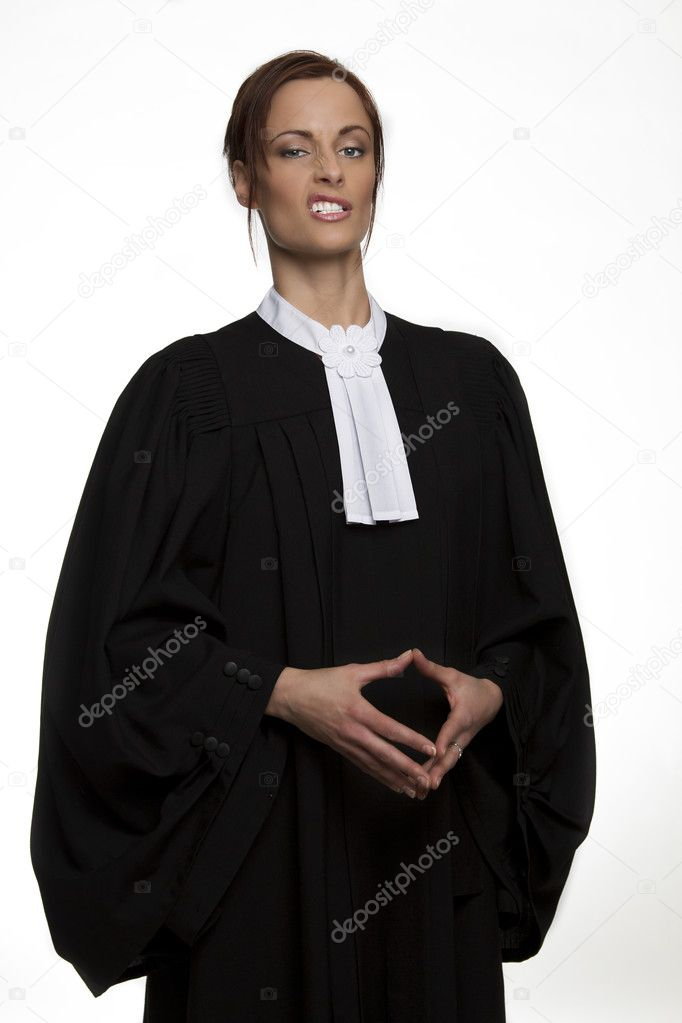 Canadian attorney in full attire making a face — Stock Photo #9838216