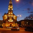 Stock Photo: Night city, church