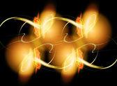 Wonderful gold fractal — Stock Photo