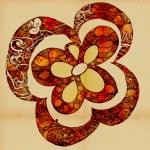 den ursprungliga stiliserad blomman — Stockfoto