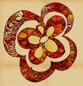 The original stylized flower — Stock Photo
