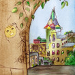 Fairytale town — Stock Photo