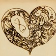 Foto de Stock  : Hearts of ornaments