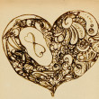 Stockfoto: Hearts of ornaments