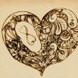 hjärtan av ornament — Stockfoto