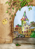 Fairytale town — Stock Photo