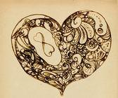 Hearts of ornaments — Stock Photo