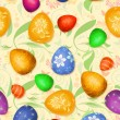 Stock Photo: Seamless easter-eggs Pattern