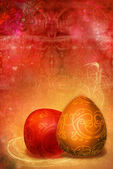 Figured patterns easter background — Stock Photo