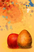 Splashed a paint background easter background — Stock Photo