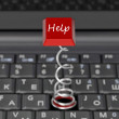 Stock Photo: Button on keyboard