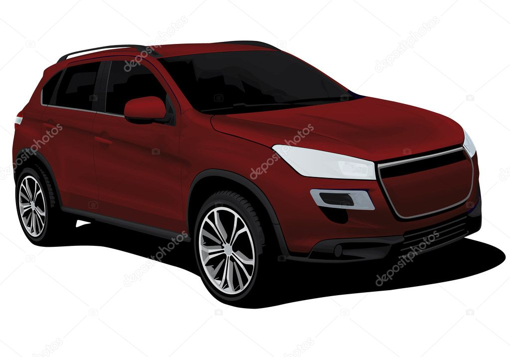 Modern suv isolated on white background — Stock Vector #9363323