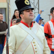 Portrait of military soldier at traditional parade from Brasov — ストック写真