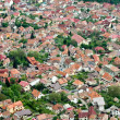 Aerial view of a residential area from Brasov city, Romania — Stockfoto