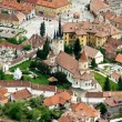 View over Saint Nicholas church from Brasov — Stockfoto