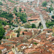Aerial view over Brasov city — Stok fotoğraf