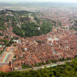 An upper view from Tampa with old center of Brasov city — Stockfoto