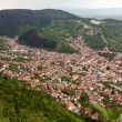Aerial view of a residential area from Brasov city — Stok fotoğraf
