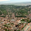 An upper view from Tampa with old center of Brasov city — Foto Stock