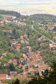 Top view of the historical center of Brasov — Zdjęcie stockowe