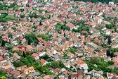 Letecký pohled na rezidenční čtvrti od brašova, rumunsko — Stock fotografie