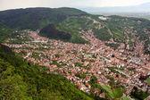 从布拉索夫市住宅小区鸟瞰图 — 图库照片