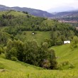 Beautiful rural landscape from Romanian village, called Pestera — Foto Stock