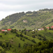 Day scene from village called Pestera, Romania - Stock Photo