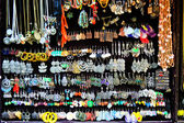 Scene of market stall with hand made jewelery — Stock Photo