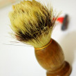 Scene with a shaving brush with shaver — Stock fotografie
