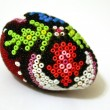 Traditional hand made Easter egg with beadwork on top — Stockfoto