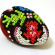 Traditional hand made Easter egg with beadwork on top — Stock Photo