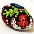 Easter egg with beadwork on top — ストック写真