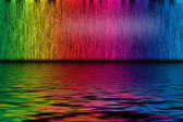 Abstract background from spectrum lines with water — Stockfoto