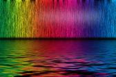 Astratto sfondo da linee di spettro con acqua — Foto Stock