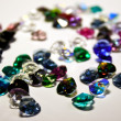 Texture from different jewel stones — Foto de stock #8412347